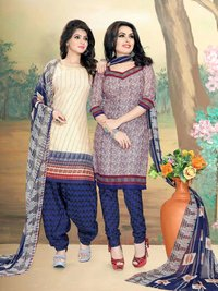 Buy 100% Pure Cotton Dress Material Catalog at Set