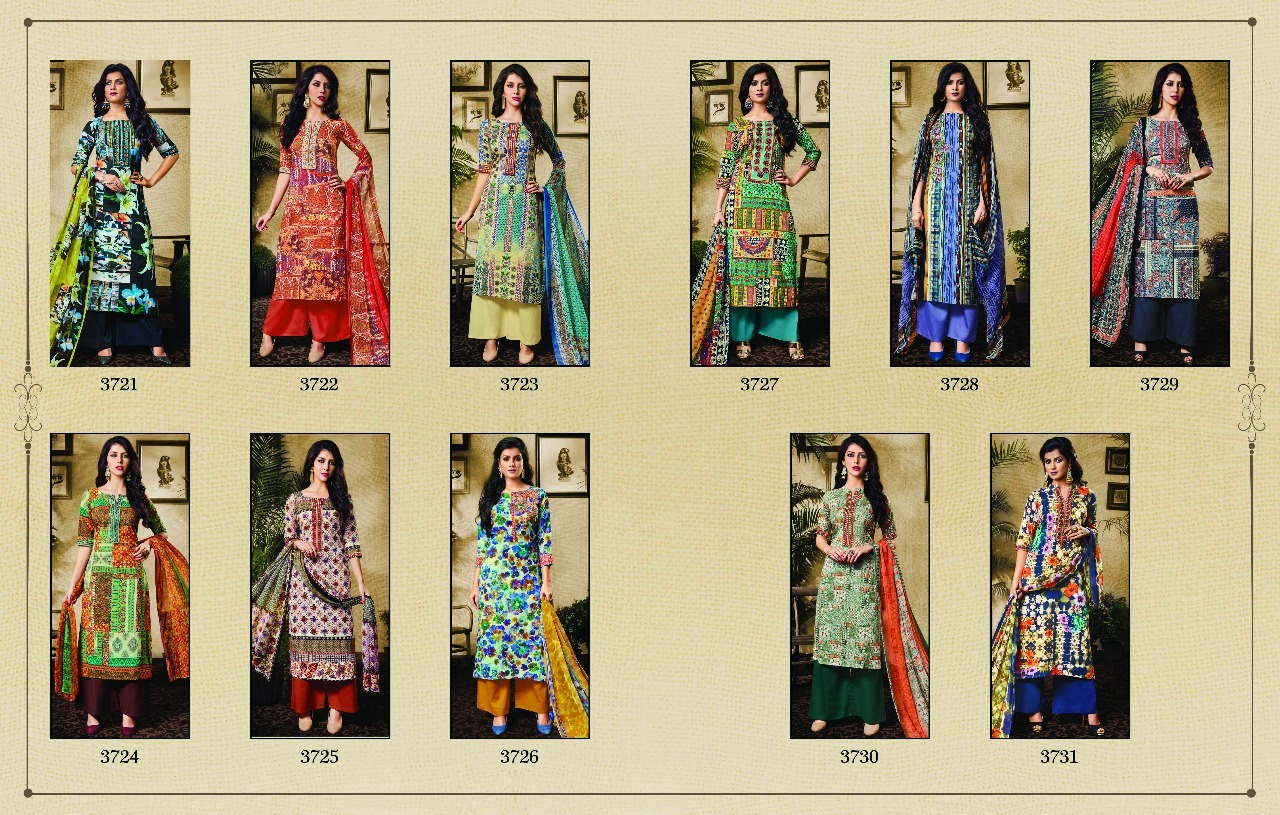 Latest Embroidery Cotton Digital Print Embroidered