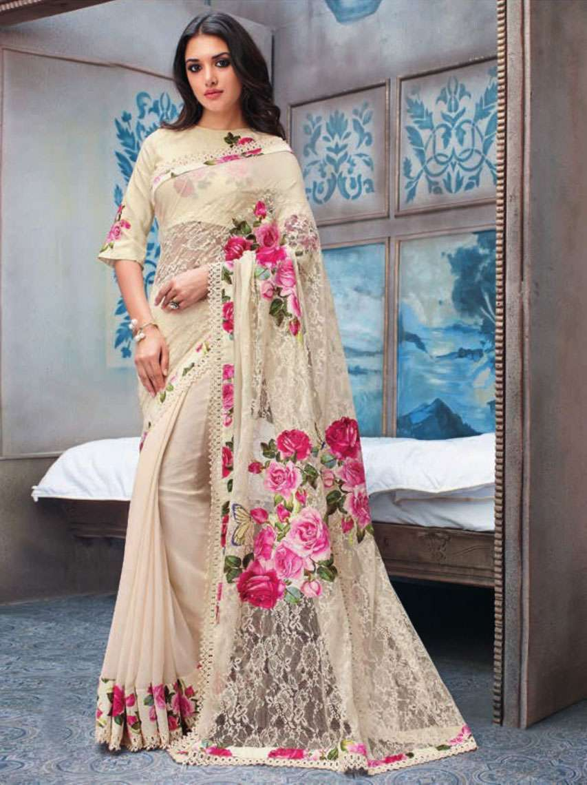 Buy Online Heavy Beautiful Georgette Saree