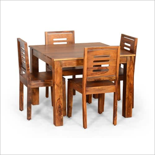 Brown Colour Dining Table With 4 Chairs