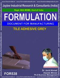 Tile adhesive grey