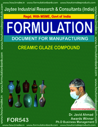 Ceramic glaze compound