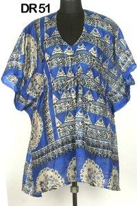 Vintage Silk Sari Short Womens Kaftan DR51