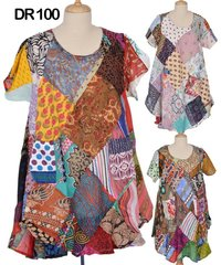 Cotton Patchwork Womens Kaftan Dress DR100