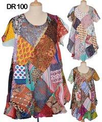 Cotton Patchwork Womens Kaftan Dress DR100