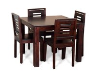 Wine Color Dining Table With 4 Chairs
