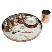 Copper Steel Dinner Set