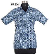 10 Cotton Hand Block Print Mens Half Sleeves Shirt DR304