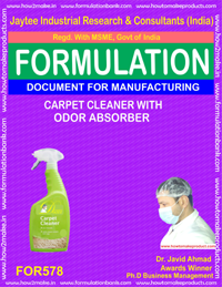 CARPET CLEANER WITH ORDOR ABSORBER