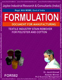Textile industry stain remover for polyster and cotton
