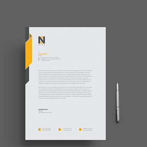 Customized Letterhead