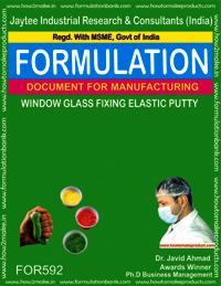 Window Glass Fixing Elastic Putty