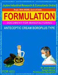 Antiseptic cream boro plus type