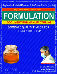 Economic quality pine oil for concentrate TRP