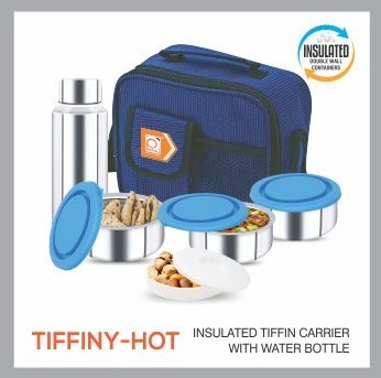 TIFFINY HOT LUNCH CARRIER WITH BOTTLE