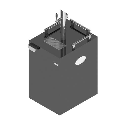 Commercial Grade 1 Tap Kegerator - Illuminated