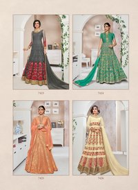 jinaam suhana catalog 7423-7427 grey handwork