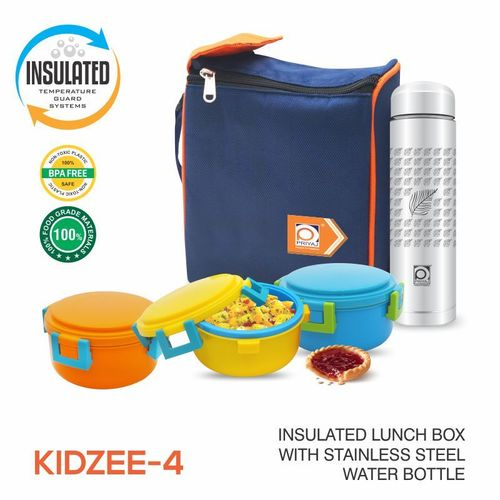 KIDZEE PLASTIC INSULATED TIFFIN CARRIER