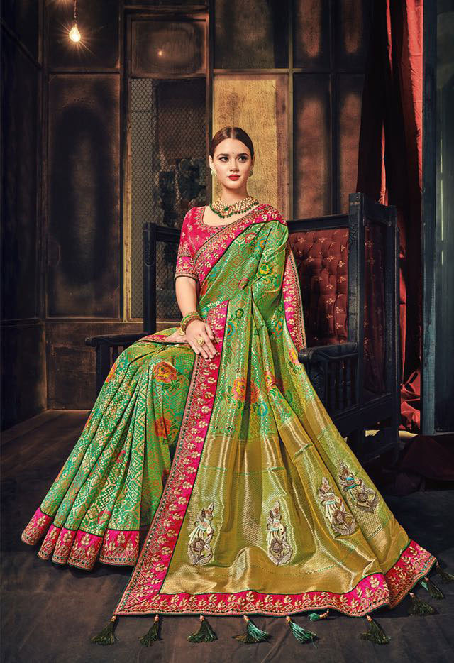 Designer Silk Embroidered Sarees