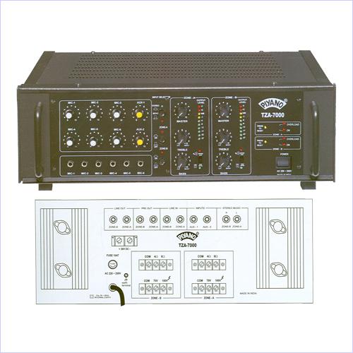 Two Zone PA Amplifiers