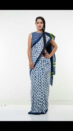 Block Print Cotton Saree