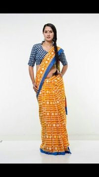 Trendy Printed Cotton Saree