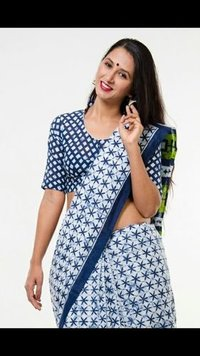 Hand Block Printed Batik Saree