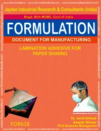 Lamination Adhesive for Paper Shining