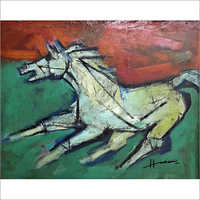 M.F. Husain - Horse indicating nationalism