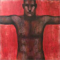 Vijay Dupatre - Wrestler Acrylic