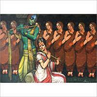 Kishor Roy - Krishna playing flute
