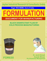 Black Disinfectant Formulaltions