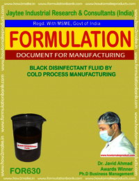 Black Disinfectant Fluid by Cold Proces Manufacturing