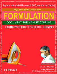 Laundry Starch For Cloth Ironing