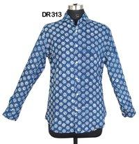 10 Cotton Hand Block Print Mens Shirt DR313