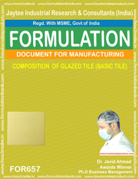 COMPOSITION OF GLAZED TILE (BASIC TILE)