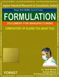 COMPOSITION OF GLAZED TILE (BASIC TILE)