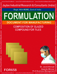 COMPOSITION OF GLAZED COMPOUND FOR TILES