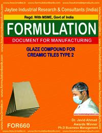 Glaze compound for creamic tiles types 2
