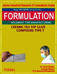 CERAMIC TILE TOP GLAZE COMPOUND type 3