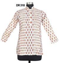 10 Cotton Hand Block Print Pintuck Womens Top Kurti DR318