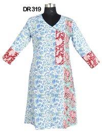 10 Cotton Hand Block Print Womens Dress DR319