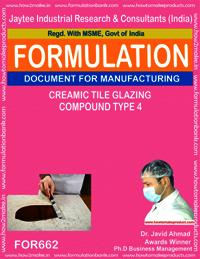 Ceramic tile glazing compound type 4