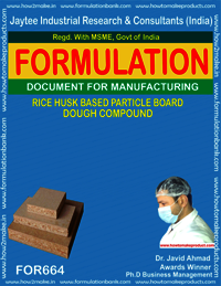 RICE HUSK BASED PARTICLE BOARD DOUGH COMPOUND