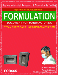 STEAM CURED SAND LIME BRICK COMPOSITION