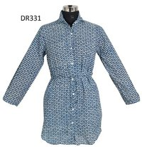 10 Cotton Hand Block Printed Womens Shirt DR331