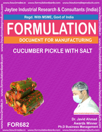 Chutnies & Pickles Recipe Formulations