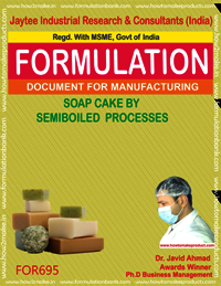 SOAP CAKE SEMI BOILED PROCESS