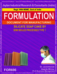 SILICATE SOAP CAKE by SEMI BOILED PROCESS