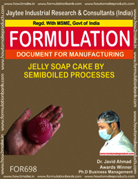 JELLY SOAP CAKE BY SEMI BOILED PROCESS